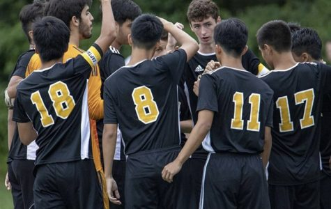 The Cresskill Boys' Soccer Team after their win against Boonton on Tuesday, November 5th.