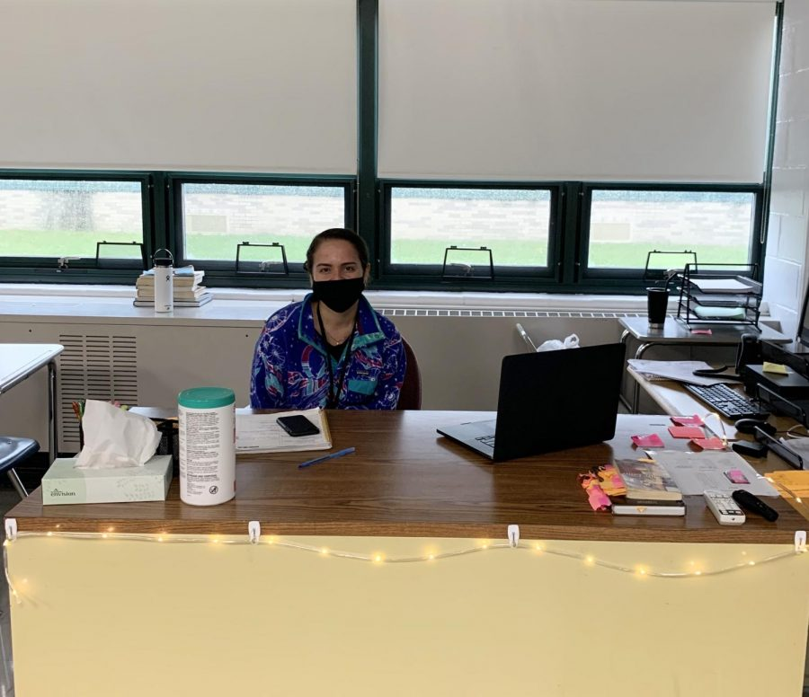 Ms. Sandoval in her new classroom