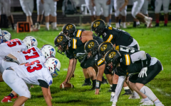 The Cougars line up against the Patriots on Friday night. Photo Courtesy of Isora Abreu.